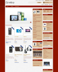 Prestashop responsive theme - Two red columns