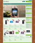 Prestashop responsive theme - Wooden board