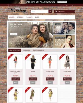 Prestashop responsive theme - Brick wall