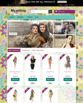 Prestashop responsive theme - Colorful land