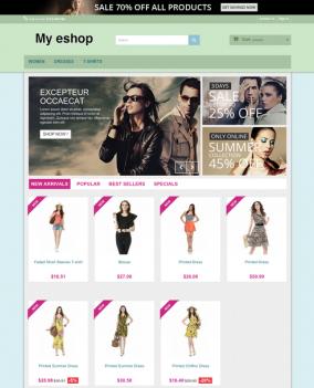 Prestashop responsive theme - Baby clothes