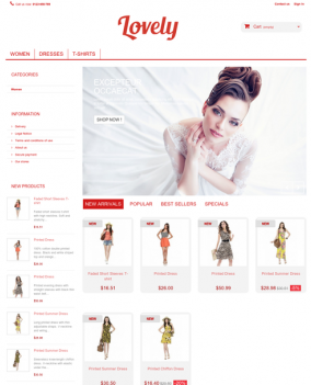 Prestashop responsive theme - Lovely