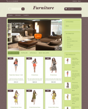 Prestashop responsive theme - Furniture