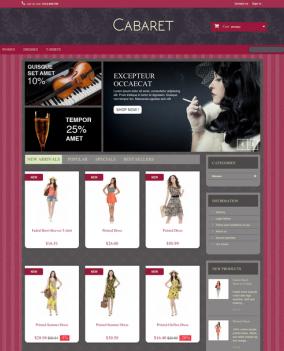 Prestashop responsive theme - Cabaret
