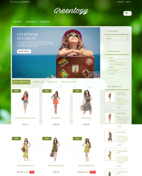 Prestashop responsive theme - Greenlogy