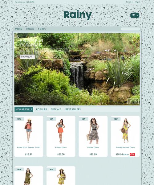 Prestashop responsive theme - Rainy