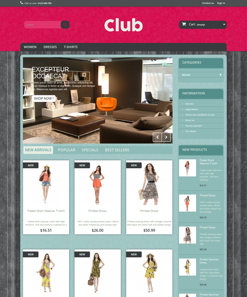 Prestashop responsive theme - Club