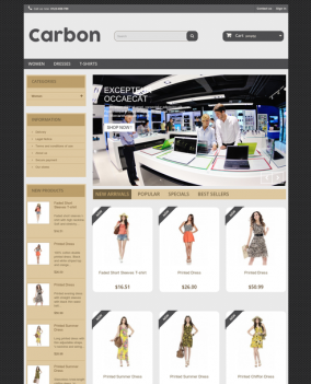 Prestashop responsive theme - Carbon