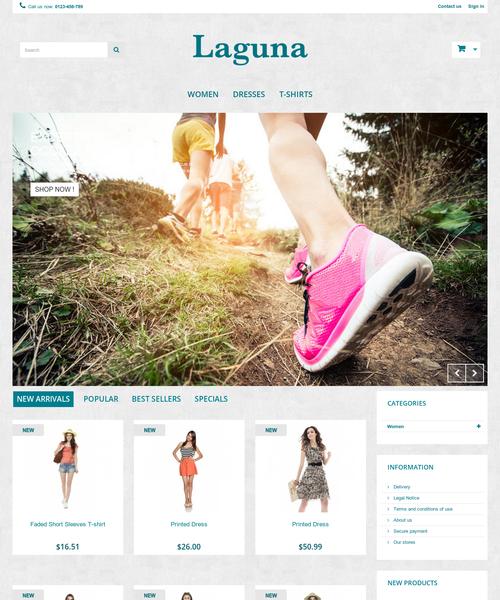 Prestashop responsive theme - Laguna