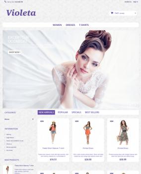 Prestashop responsive theme - Violeta