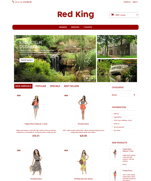 Prestashop responsive theme - Red Kind