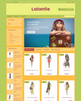 Prestashop responsive theme - Lalantie