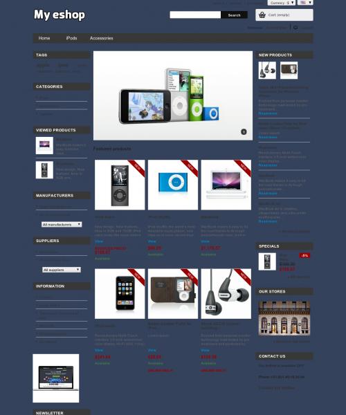 Prestashop responsive theme -
