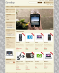 Prestashop responsive theme - Grey flowers