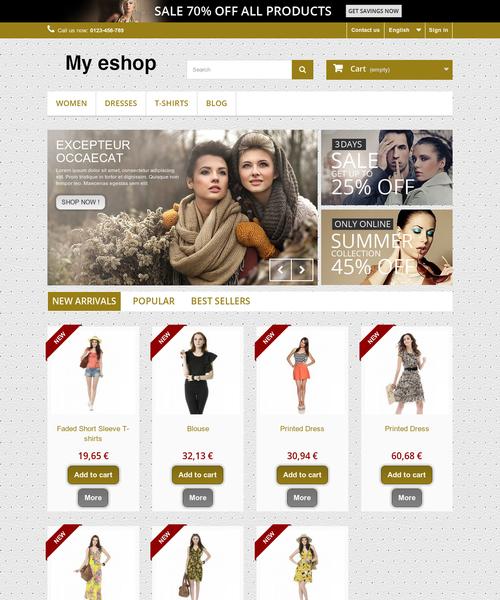 Prestashop responsive theme - Golden shop