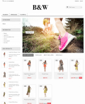 Prestashop responsive theme - Black And White