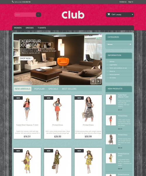 Prestashop responsive theme - Club